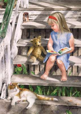 Story Time (BL01939), a 1000 piece jigsaw puzzle by Blue Opal. Click to view larger image.