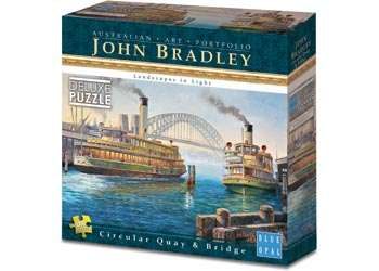 Sydney Harbour Circular Quay & Bridge (BL01992), a 1000 piece jigsaw puzzle by Blue Opal. Click to view larger image.