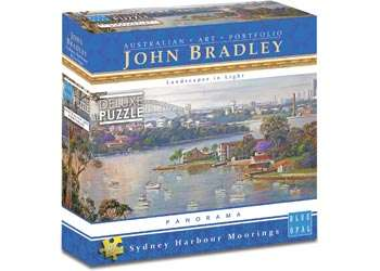 Sydney Harbour Moorings (BL01990), a 1000 piece jigsaw puzzle by Blue Opal. Click to view larger image.