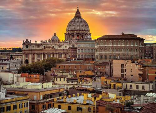 Rome at Sunset (CLE 39341), a 1000 piece jigsaw puzzle by Clementoni. Click to view larger image.