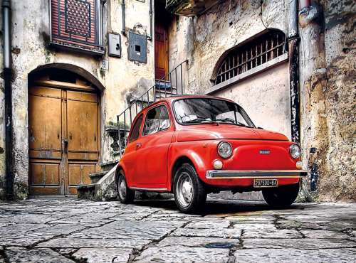 Italian Style (Fiat) (CLE 30575), a 500 piece jigsaw puzzle by Clementoni. Click to view larger image.