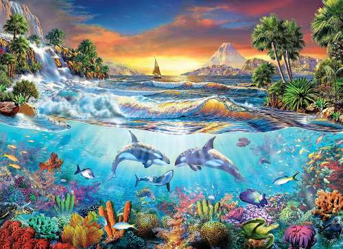 Under The Sea (CLE 39335), a 1000 piece jigsaw puzzle by Clementoni. Click to view larger image.