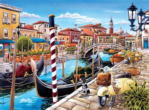 Venetian Lagoon (CLE 35026), a 500 piece jigsaw puzzle by Clementoni. Click to view larger image.