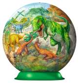 Fascinating Dinosaurs (3D Puzzle) (RB12267-7), a 108 piece Ravensburger jigsaw puzzle.