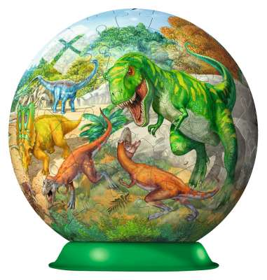 Fascinating Dinosaurs (3D Puzzle) (RB12267-7), a 108 piece jigsaw puzzle by Ravensburger. Click to view larger image.