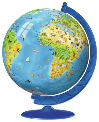 Children's Globe (3D Puzzle) (RB12338-4), a 108 piece jigsaw puzzle by Ravensburger. Click to view larger image.