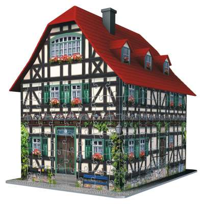 Medieval House (3D Puzzle) (RB12572-2), a 216 piece jigsaw puzzle by Ravensburger. Click to view larger image.