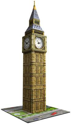 Big Ben with Clock (3D Puzzle) (RB12586-9), a 216 piece jigsaw puzzle by Ravensburger. Click to view larger image.