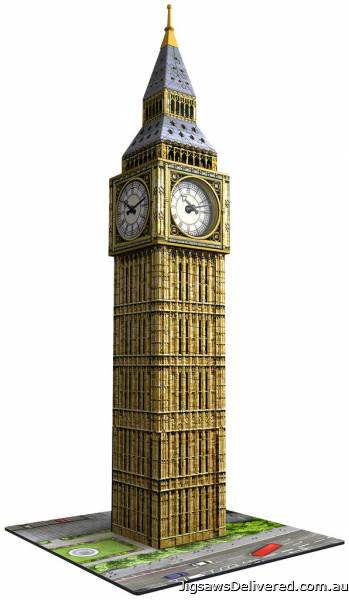 Big Ben with Clock (3D Puzzle) (RB12586-9), a 216 piece jigsaw puzzle by Ravensburger.
