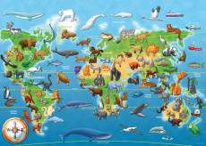 Endangered Animals SuperSize (RB05515-9), a 60 piece Ravensburger jigsaw puzzle.