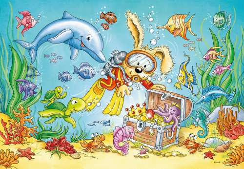 Diving Adventure (RB07603-1), a 12 piece jigsaw puzzle by Ravensburger. Click to view larger image.