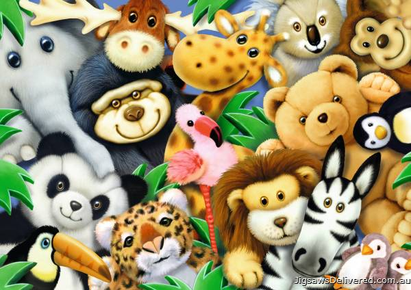 Softies (RB08794-5), a 35 piece jigsaw puzzle by Ravensburger.