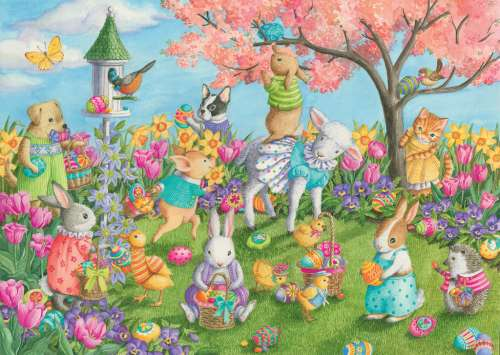 Egg Hunt (RB08795-2), a 35 piece jigsaw puzzle by Ravensburger. Click to view larger image.