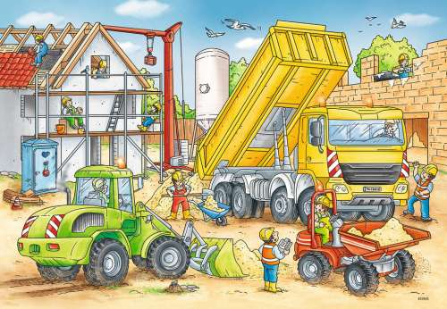 Hard At Work (RB07800-4), a 24 piece jigsaw puzzle by Ravensburger. Click to view larger image.