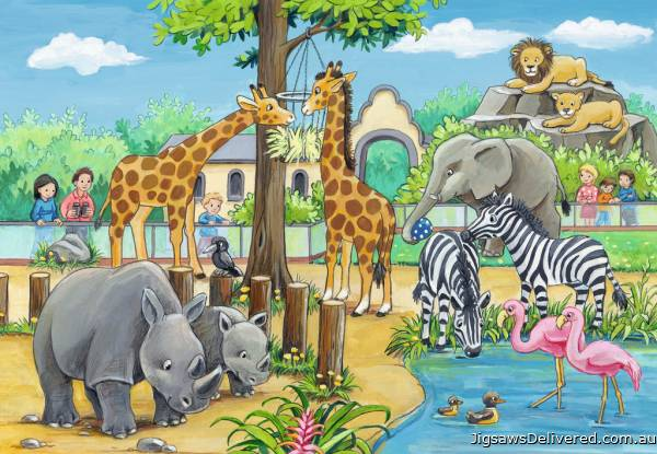 Welcome To The Zoo (RB07806-6), a 24 piece jigsaw puzzle by Ravensburger.