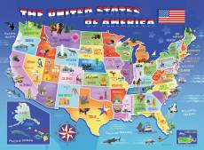 USA State Map (RB10936-4), a 100 piece Ravensburger jigsaw puzzle.