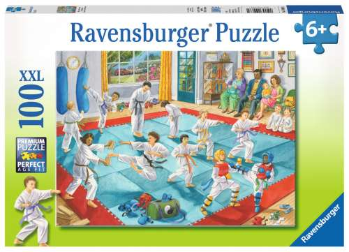 Martial Arts Class (RB10968-5), a 100 piece jigsaw puzzle by Ravensburger. Click to view larger image.