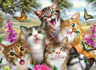Friendly Felines (RB12620-0), a 200 piece Ravensburger jigsaw puzzle.