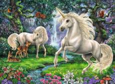 Mystical Unicorns (RB12838-9), a 200 piece Ravensburger jigsaw puzzle.