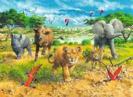 African Animal Babies (RB13219-5), a 300 piece Ravensburger jigsaw puzzle.
