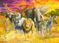 African Animals (RB14724-3), a 500 piece jigsaw puzzle by Ravensburger. Click to view this jigsaw puzzle.