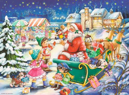 Christmas Joy (RB14740-3), a 500 piece jigsaw puzzle by Ravensburger. Click to view larger image.