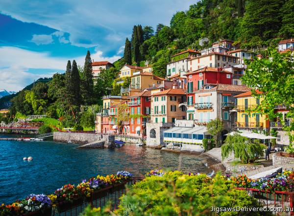 Lake Como, Italy (RB14756-4), a 500 piece jigsaw puzzle by Ravensburger.