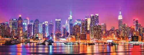 Manhattan Lights (RB15078-6), a 1000 piece jigsaw puzzle by Ravensburger. Click to view larger image.