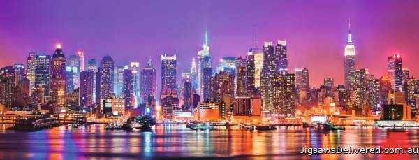 Manhattan Lights (RB15078-6), a 1000 piece jigsaw puzzle by Ravensburger.