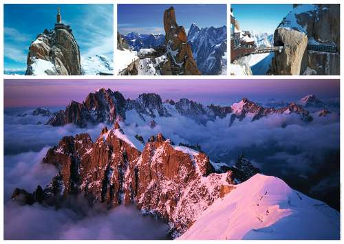 Views Of Mont Blanc (RB19671-5), a 1000 piece jigsaw puzzle by Ravensburger. Click to view larger image.