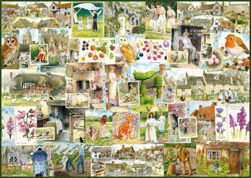 Country Life 1900s (RB19699-9), a 1000 piece jigsaw puzzle by Ravensburger. Click to view larger image.