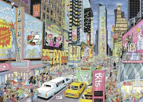 New York (RB19732-3), a 1000 piece jigsaw puzzle by Ravensburger. Click to view larger image.