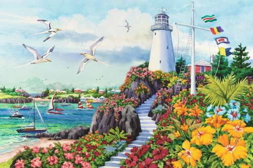 Coastal Paradise (RB17073-9), a 3000 piece jigsaw puzzle by Ravensburger. Click to view larger image.