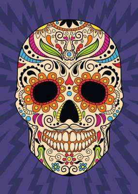 Calavera Mexicana (RB19686-9), a 1000 piece jigsaw puzzle by Ravensburger. Click to view larger image.