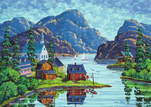The Saguenay Fjord, Canada (RB19542-8), a 1000 piece jigsaw puzzle by Ravensburger. Click to view larger image.