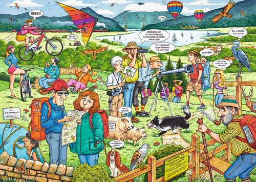 The Country Park (RB19436-0), a 1000 piece jigsaw puzzle by Ravensburger. Click to view larger image.