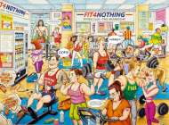 Fit 4 Nothing Gym (RB14699-4), a 500 piece Ravensburger jigsaw puzzle.