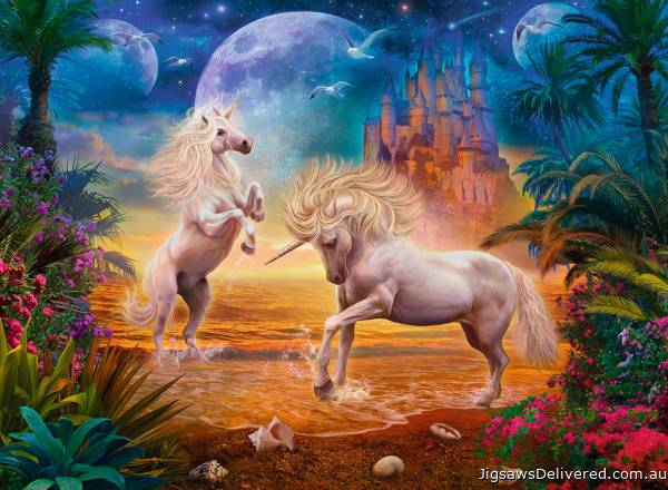 Magical Unicorns (RB14743-4), a 500 piece jigsaw puzzle by Ravensburger.