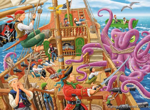 Pirate Boat Adventure (RB10939-5), a 100 piece jigsaw puzzle by Ravensburger.