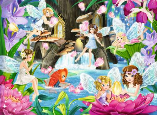 Magical Fairy Night (RB10942-5), a 100 piece jigsaw puzzle by Ravensburger. Click to view larger image.