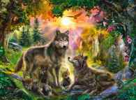 Wolf Family in Sunshine (RB14745-8), a 500 piece jigsaw puzzle by Ravensburger. Click to view this jigsaw puzzle.