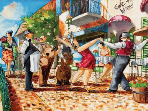 Tango (RB16348-9), a 1500 piece jigsaw puzzle by Ravensburger. Click to view larger image.