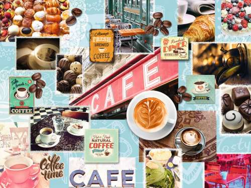 Coffee And Cake (RB16346-5), a 1500 piece jigsaw puzzle by Ravensburger. Click to view larger image.