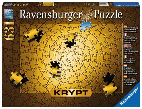 KRYPT Gold Spiral (RB15152-3), a 631 piece jigsaw puzzle by Ravensburger. Click to view larger image.