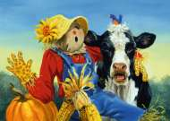Barnyard Duet (Large Pieces) (RB13222-5), a 300 piece Ravensburger jigsaw puzzle.