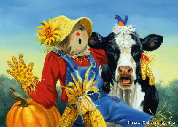 Barnyard Duet (Large Pieces) (RB13222-5), a 300 piece jigsaw puzzle by Ravensburger.