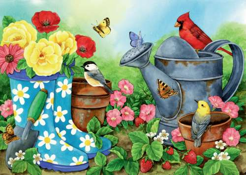 Garden Traditions (Large Pieces) (RB13223-2), a 300 piece jigsaw puzzle by Ravensburger. Click to view larger image.