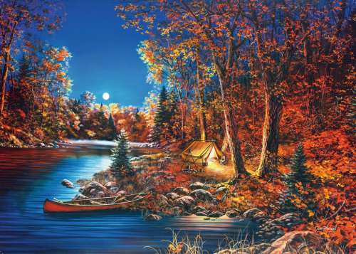 Still Of The Night (Large Pieces) (RB14916-2), a 500 piece jigsaw puzzle by Ravensburger. Click to view larger image.