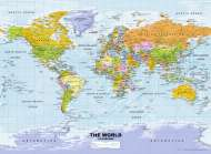 Political World Map (RB14755-7), a 500 piece Ravensburger jigsaw puzzle.
