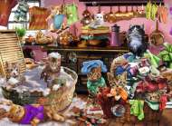 Cat In The Kitchen (RB10031-6), a 150 piece Ravensburger jigsaw puzzle.